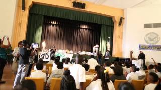 DJ Mustard Hosts Surprise Backpack Giveaway at Middle School in Los Angeles