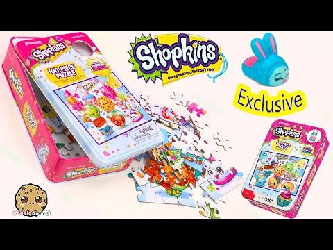 1 Exclusive Shopkins In 100 Piece Puzzle Tin + Season 3 Surprise Blind Bag - Cookieswirlc