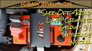 Slee Off-Road Land Cruiser Group 31 Battery Upgrade Install - Building the Beast
