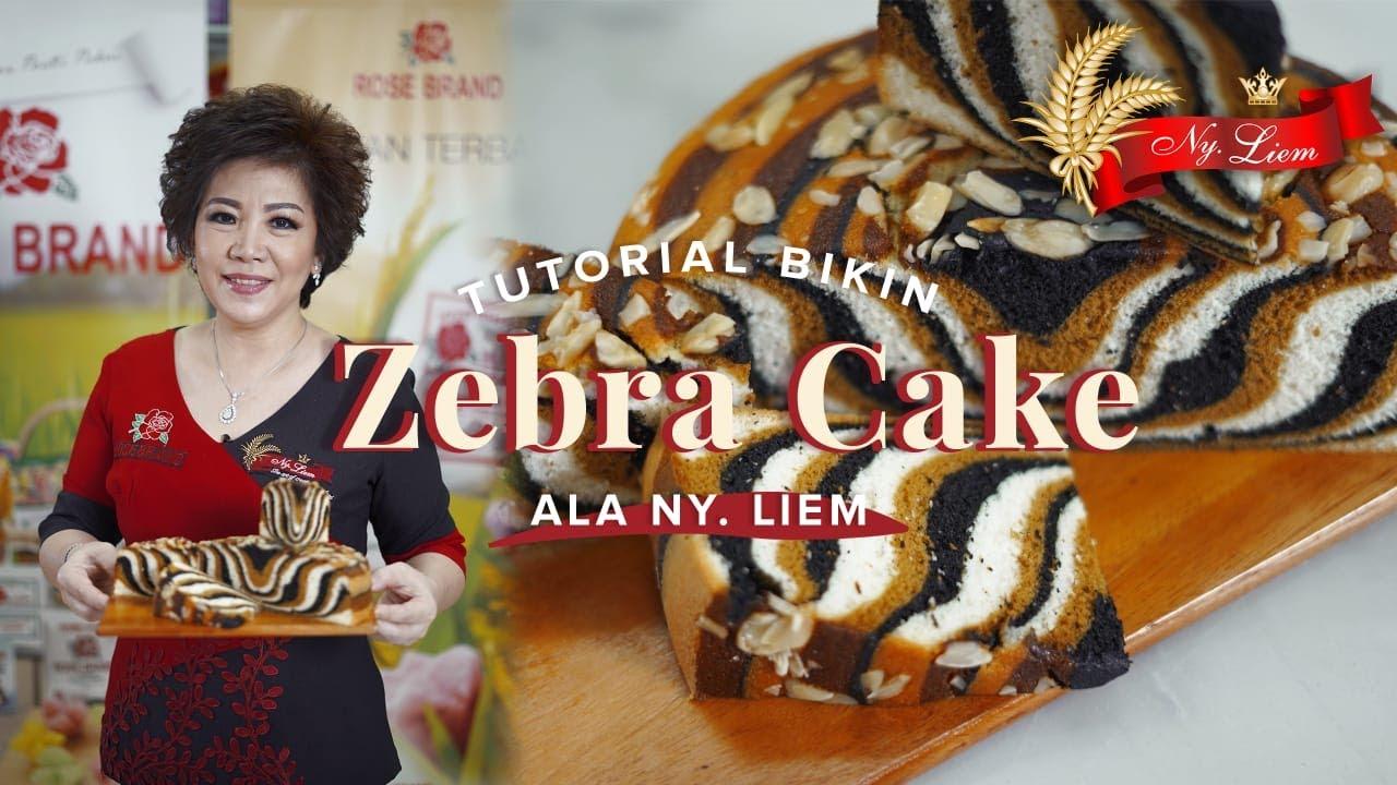 BIKIN KUE PAKE PUTIH TELURNYA SAJA! ZEBRA CAKE ala Ny.Liem ...