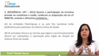 Questões dica Lei 8.080/90 | Professora Natale Souza