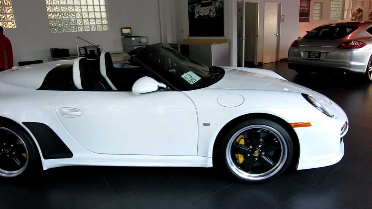 2011 Porsche Speedster Carrara White Limited Production
