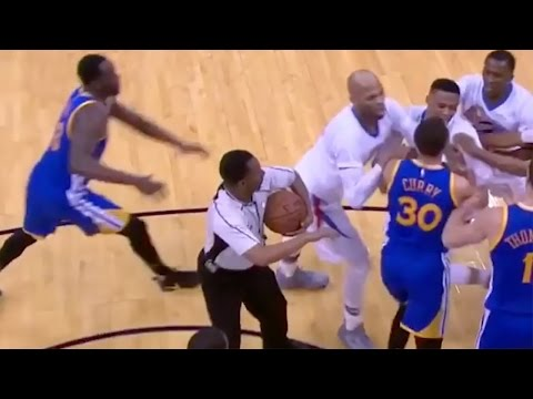 Steph Curry and Russell Westbrook Get into INTENSE SCUFFLE, Draymond Green JUMPS In