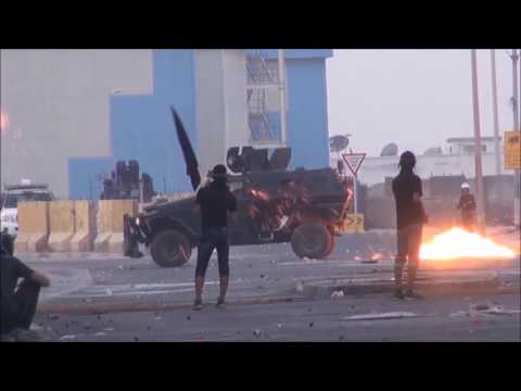 Bahrain : Strong Heavy Clashes at First Morning Hours And Police Use Excessive force