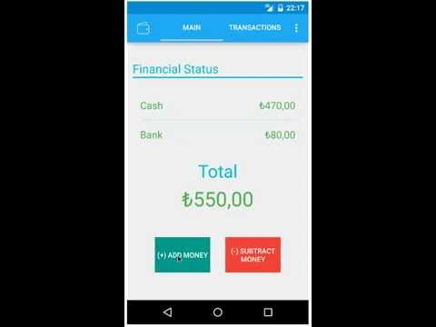 my wallet personel money activity tracking app youtube