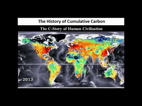 Cumulative CO2 emissions from world regions