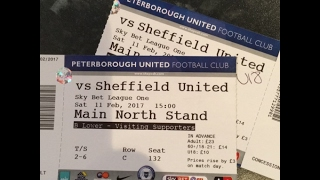 Scenes as 4000 Sheffield United Fans Invade Peterborough - February 11th 2017