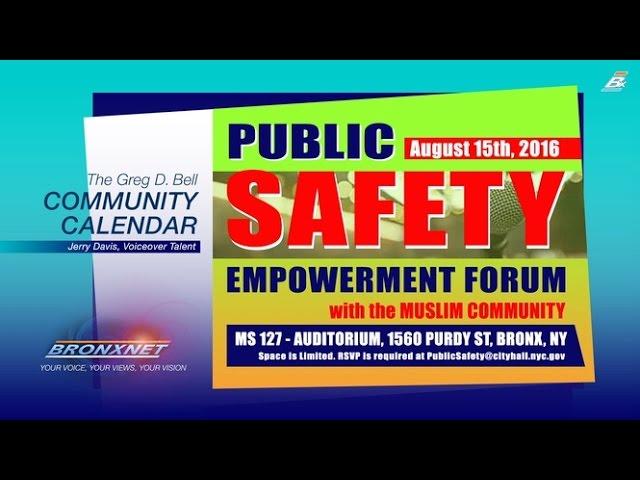 Community Calendar   Aug. 9 - 15, 2016