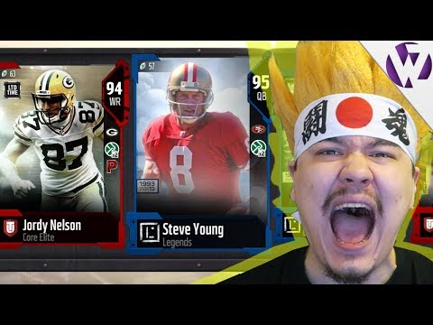 FULL LEGEND STEVE YOUNG PULL!! LIMITED EDITION PULL! 4 LIMITED TIME CARDS! - Madden 18 Pack Opening
