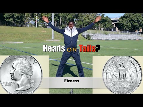 Fun Heads or Tails fitness challenge | k-12 PE at home games