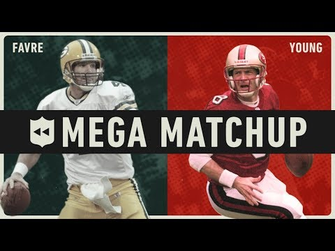 Brett Favre Vs. Steve Young MEGA Matchup! | NFL Throwback