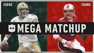 Brett Favre vs. Steve Young MEGA Matchup! | NFL Throwback