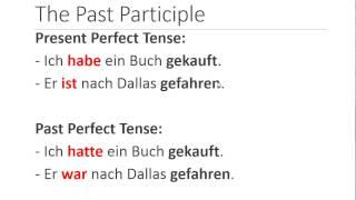 german grammar past perfect tense