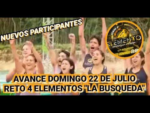 RUMBO A RETO 4 ELEMENTOS SEGUNDA TEMPORADA | LA BÚSQUEDA | DOMINGO 22 DE JULIO 4 ELEMENTOS