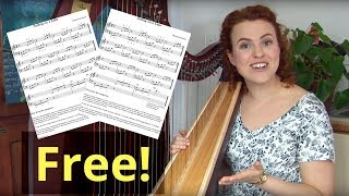 A common mistake of self-taught harpists! (Sailing on a Lake - easy TUTORIAL)