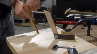 Handcrafting A Windsor Chair Seat With Handtools