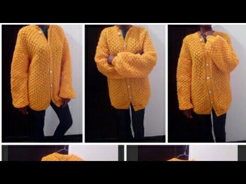 Tuto tricot :Gilet/ veste /tricot pour femme au tricot taille 45,50,52 partie 04 🧥💃 - YouTube