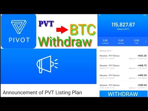 Pivot PVT exchange announcement PVT to BTC Update || Make money Refer and earn token