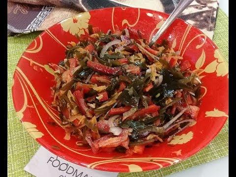 Салат с морской капустой по-корейски: рецепт от Foodman.club