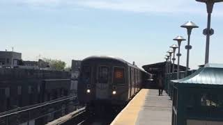 R68A B train running by the West End D line