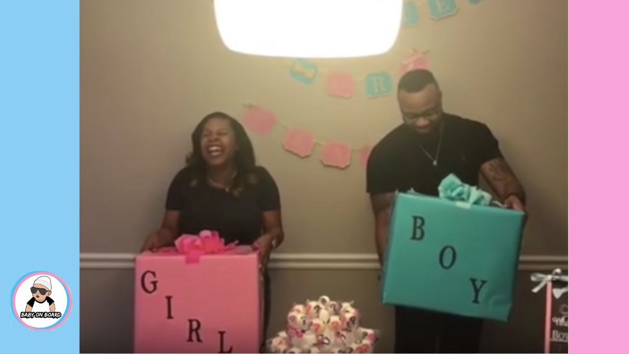 pt 2 baby gender reveal compilation  pregnancy baby ...