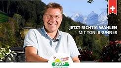 Jetzt richtig wählen - Wahlanleitung von Toni Brunner für den Kanton St. Gallen