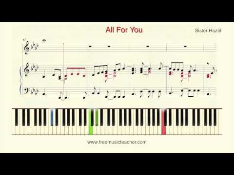 How To Play Piano: Sister Hazel All For You Piano Tutorial  Ramin Yousefi