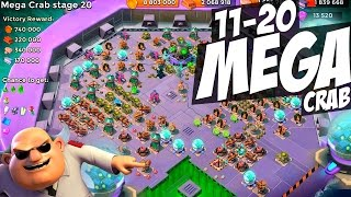 mega crab stages 11 20 chaos boom beach strategy new intro outro