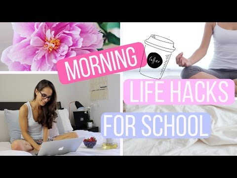 MORNING LIFE HACKS FOR SCHOOL | How To Be A Morning Person!