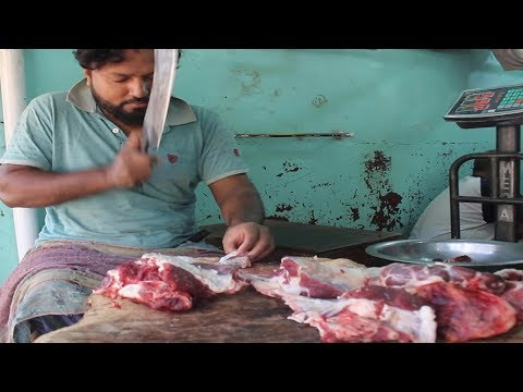 Cow Meat Market | Travel Bangla 24 | Cow Cuts Of Meat Cutter Knife