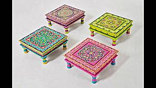Bemalte Möbel Mit Romantischen Motiven Für Zuhause