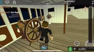 Captain smith going down with the ship ROBLOX titanic