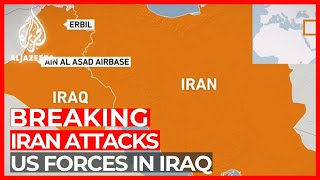 Iran fires rockets at US forces in Iraq