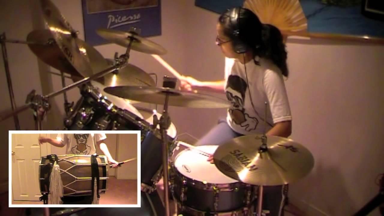 Ainvayi Ainvayi-Band Baaja Baaraat (Drum Set, Dholak, Bhangra Dhol, Indian  Congas Cover)- Sarah T
