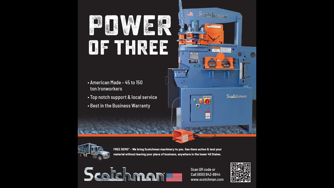 Scotchman 5014ET - New 50-ton Turret Punch Ironworker Metal Fabricating Machine - Made in USA & Scotchman 5014ET - New 50-ton Turret Punch Ironworker Metal ...