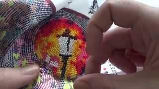 Вышивка бисером в круговой технике.