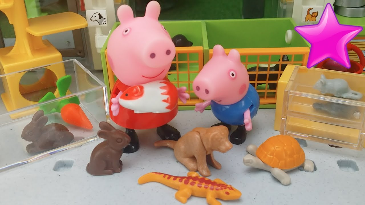 Peppa Playmobil De Mascotas Animales Juguetes Tienda Pig vn0N8wPOym