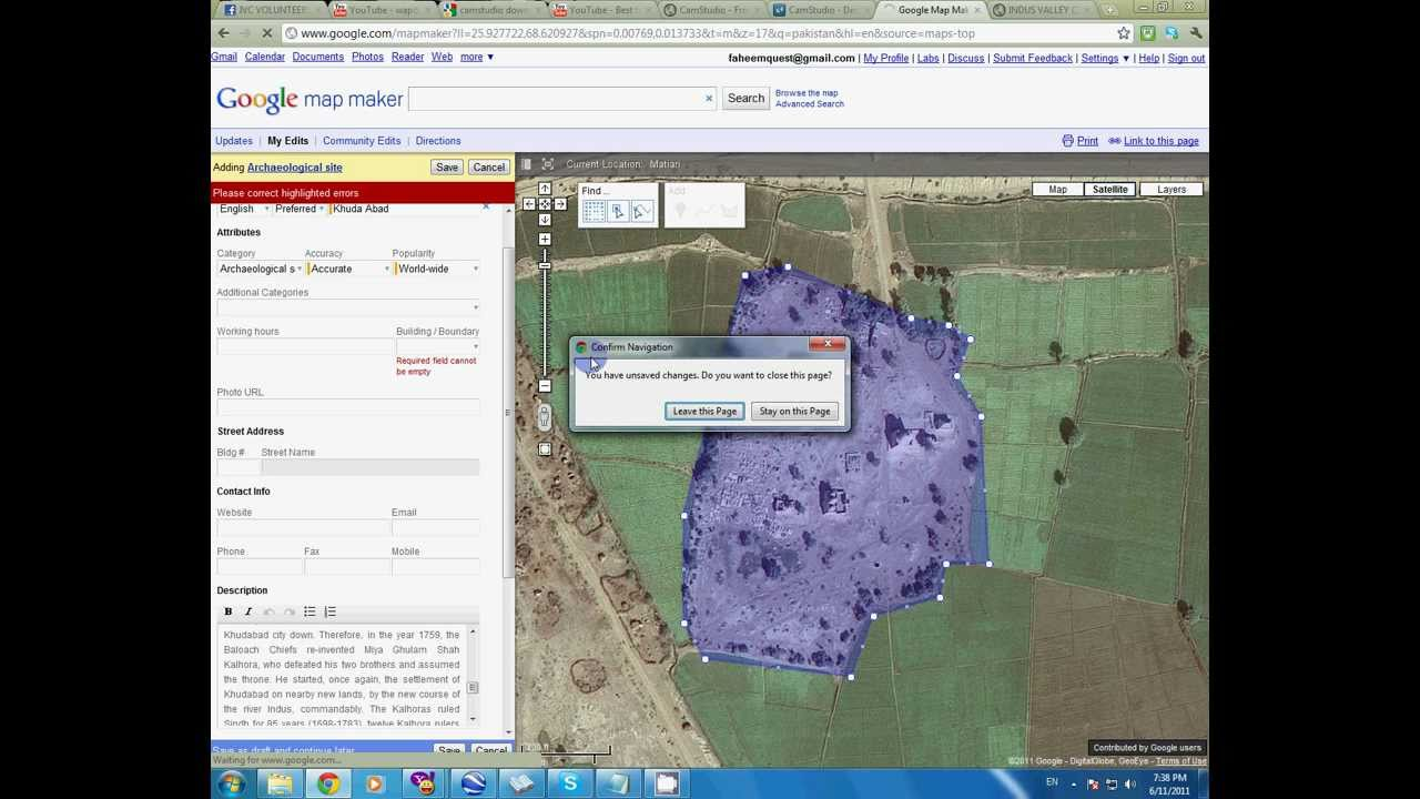 How to mark any site on google earth by map maker youtube how to mark any site on google earth by map maker gumiabroncs