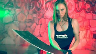 CHINESE WAR SWORD MACHETE!! Zombie Go Boom
