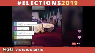 #Elections2019: INEC announces election results