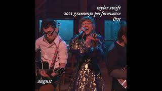 Taylor swift - august (live at the 2021 ...