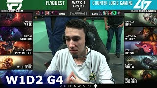 FlyQuest vs CLG | Week 1 Day 2 S10 LCS Spring 2020 | FLY vs CLG W1D2