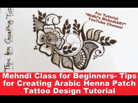 mehndi class for beginners  tips for creating arabic henna