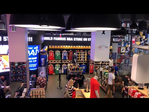 We Went To The World Famous NBA Store In NYC!!!