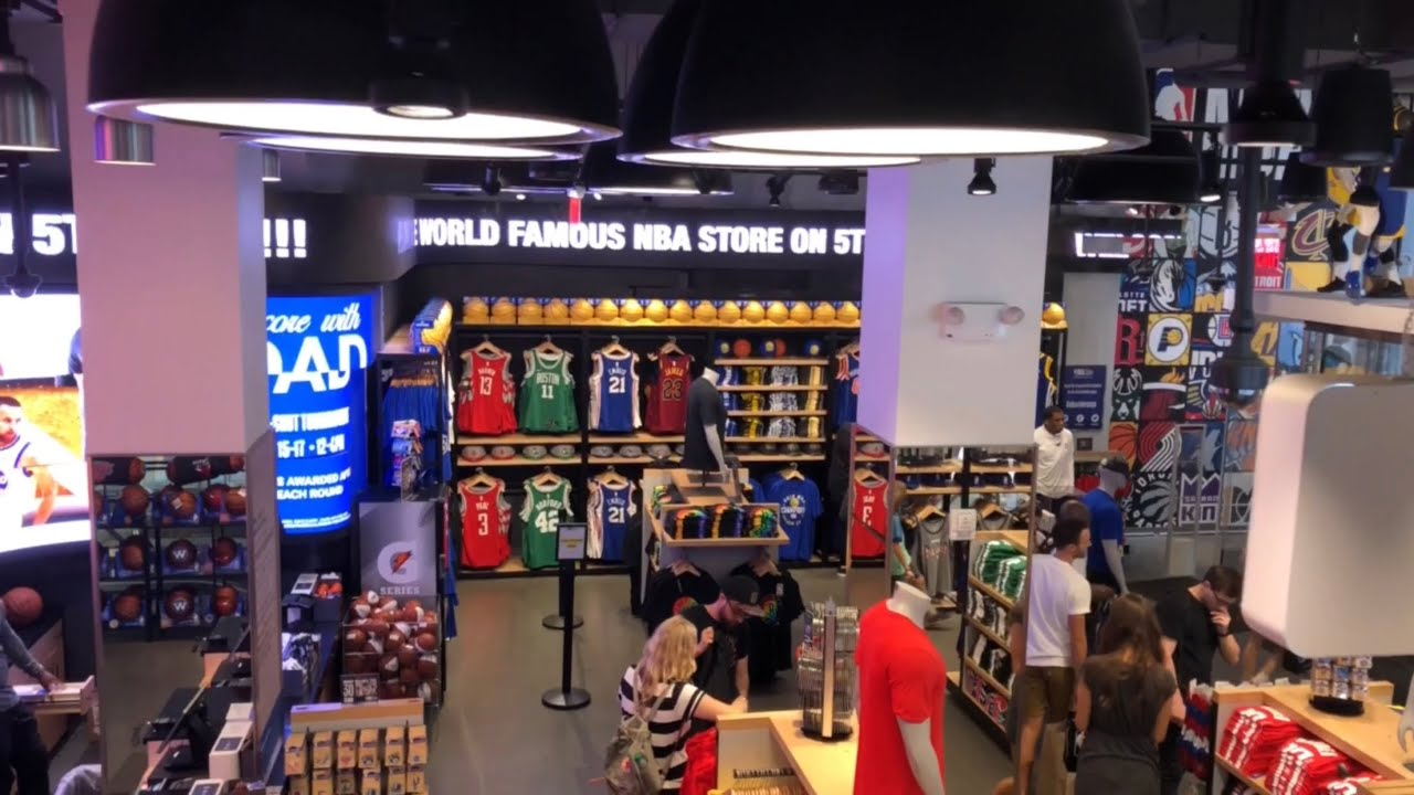 227920e6c56 We went to the World Famous NBA Store in NYC!!! - YouTube