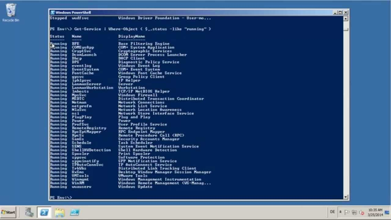 count output lines in Powershell