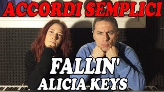 #49 FALLIN' (Alicia Keys) - Tutorial Pianoforte - Accordi facili