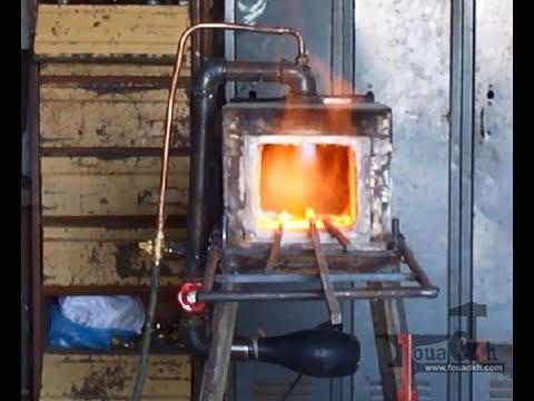طريقة صنع فرن محلي لزخرفة الفيرفورجيه وتذويب الالومنيوم  Iron Furnace