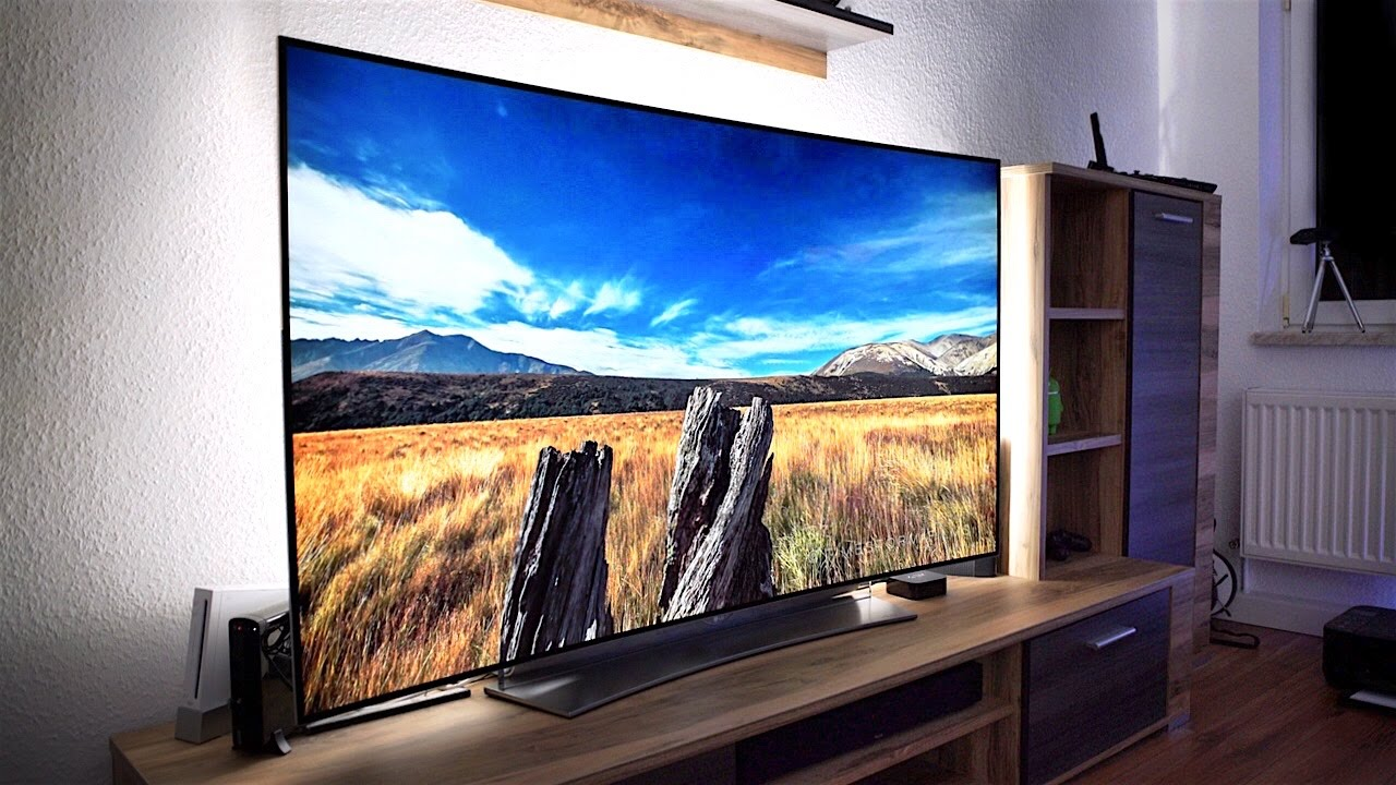 der fernseher der zukunft lg 39 s 65 curved 4k oled tv im review felixba youtube. Black Bedroom Furniture Sets. Home Design Ideas