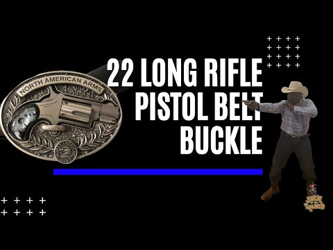 North American Arms 22 Long Rifle Pistol Belt Buckle